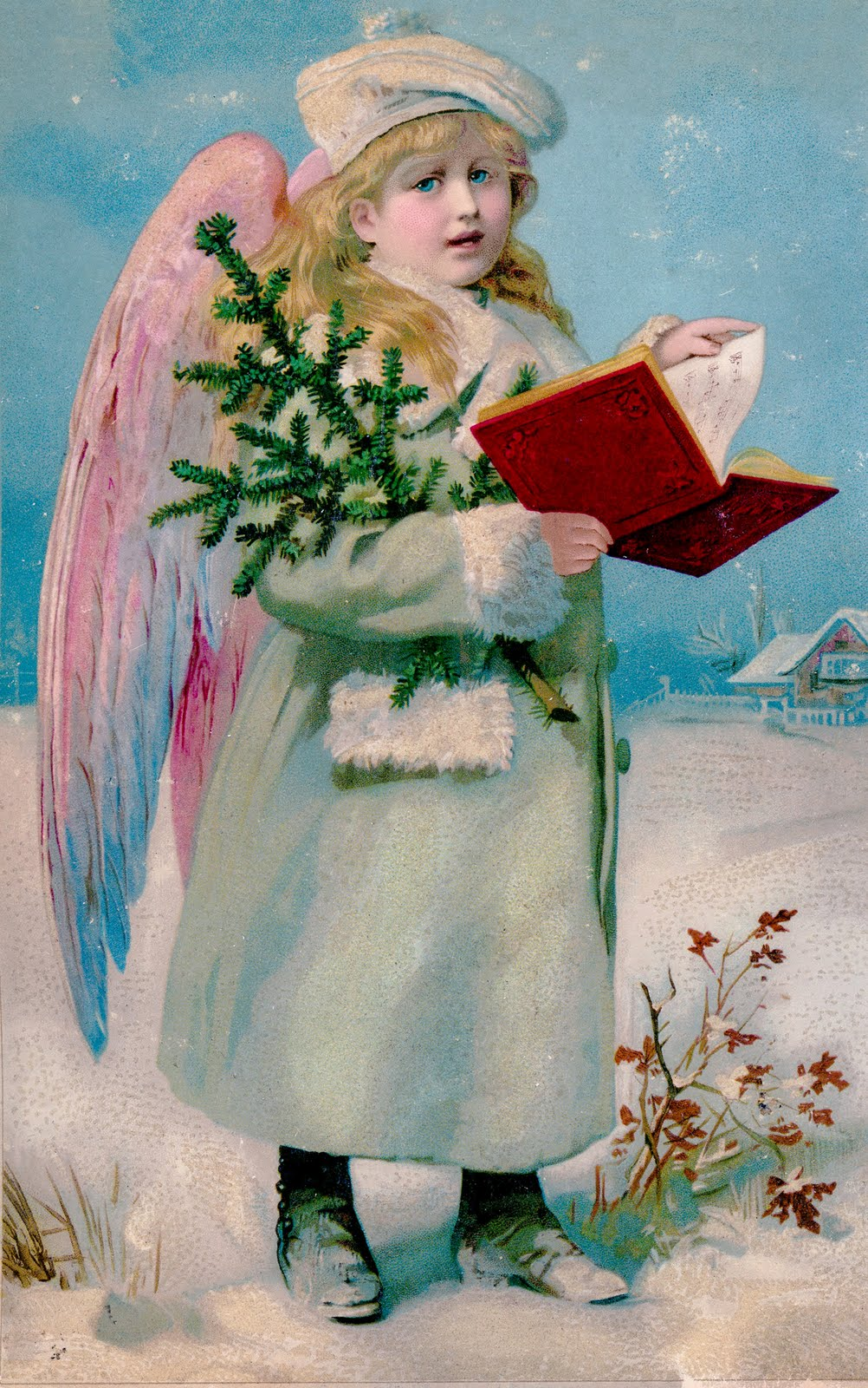Instant Art Printable Download Best Vintage Angel Ever