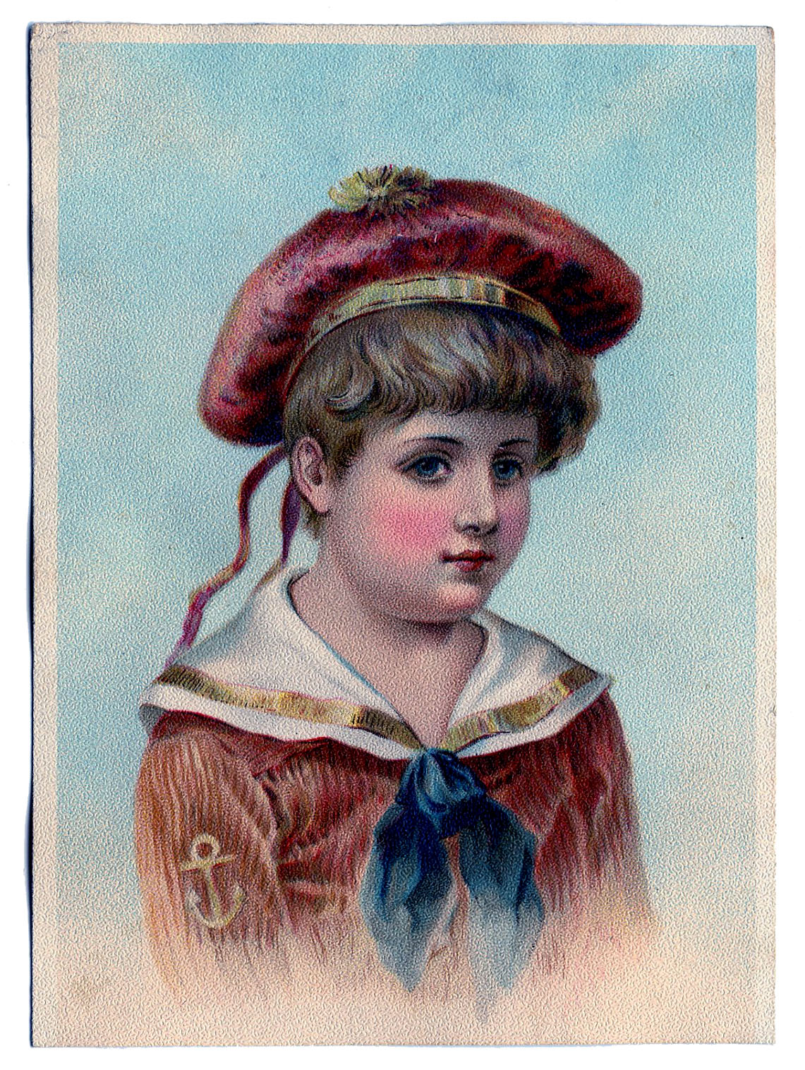 Vintage Clip Art Darling Victorian Sailor Boy The