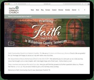 Faith Community Church website