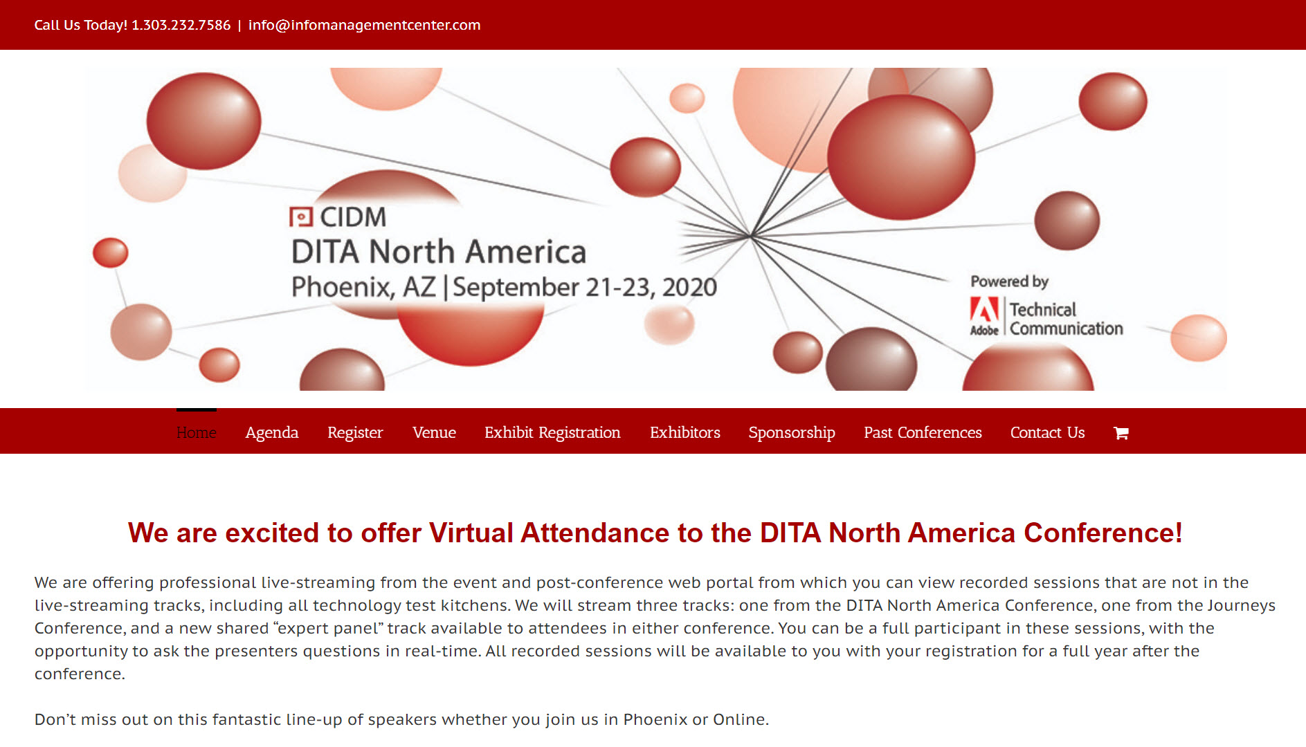 CIDM DITA North America 2020 (Center for Information-Development Management 22nd Annual DITA North America Conference)