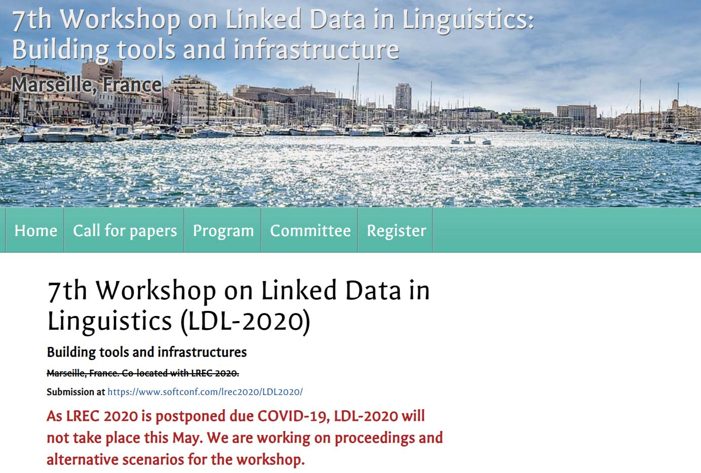7th Workshop on Linked Data in Linguistics (LDL-2020)