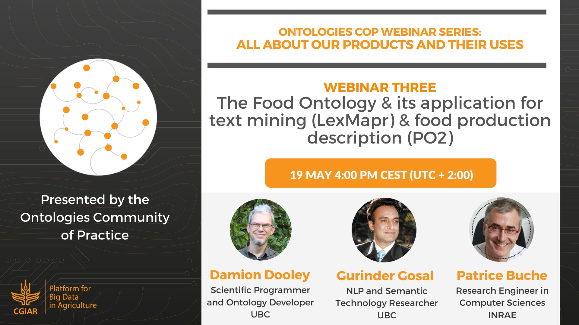 The Food Ontology, and Its Application for Text Mining (LexMapr), and Food Production Description (PO2)