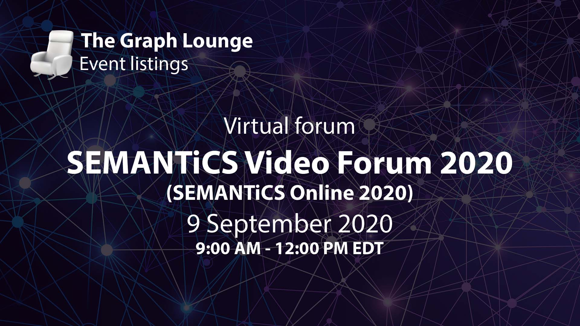 SEMANTiCS Video Forum 2020 (SEMANTiCS Online 2020)