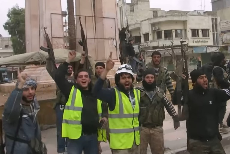 White Helmets Idlib guns