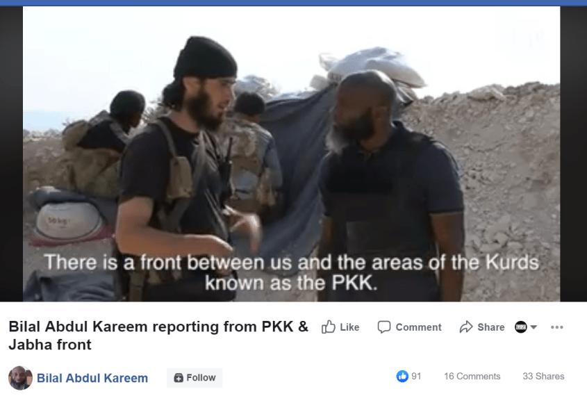 Bilal Abdul Kareem Nusra PKK Facebook