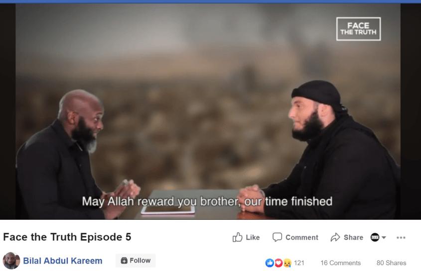 Bilal Abdul Kareem allah reward you brother
