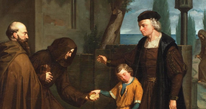 Christopher Columbus with his son Diego