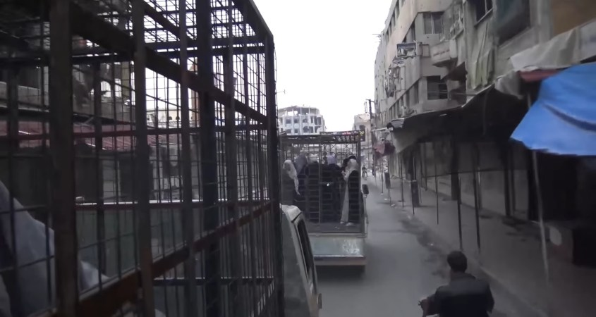 jaish al islam cages eastern ghouta