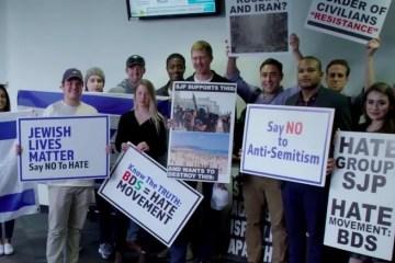 Noah Pollak Israel SJP protest