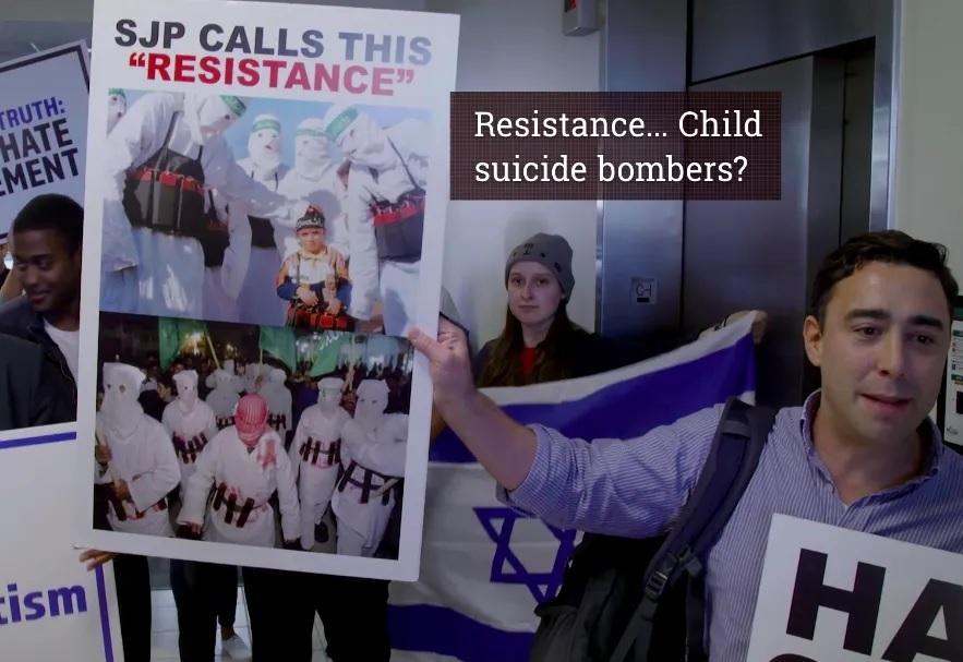 Noah Pollak SJP Israel protest documentary