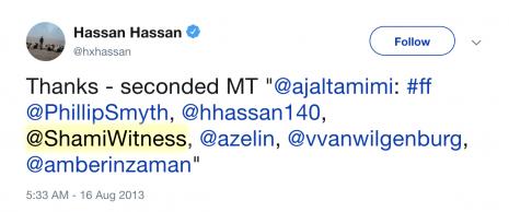 Hassan Hassan ShamiWitness Twitter 2