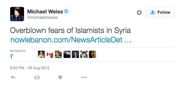 Michael Weiss Islamists Syria