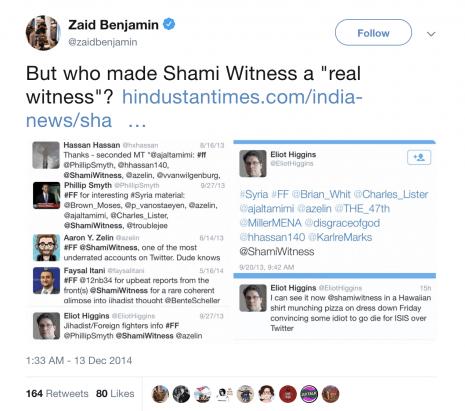 Zaid Benjamin ShamiWitness tweet
