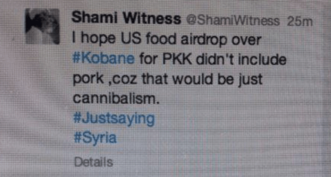 shamiwitness kurds pigs tweet