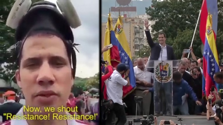 Juan Guaidó US regime change training