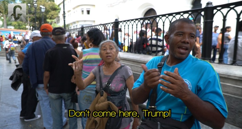 Venezuelan don't come here Trump