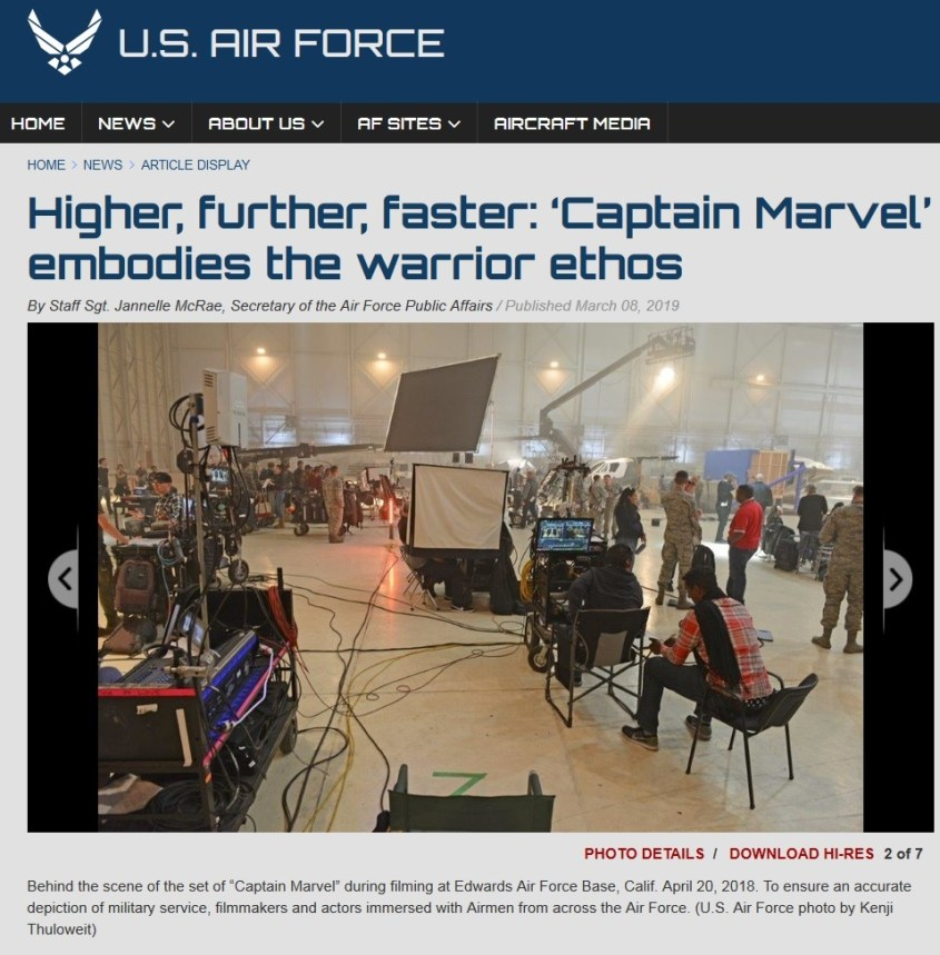 air force captain marvel base