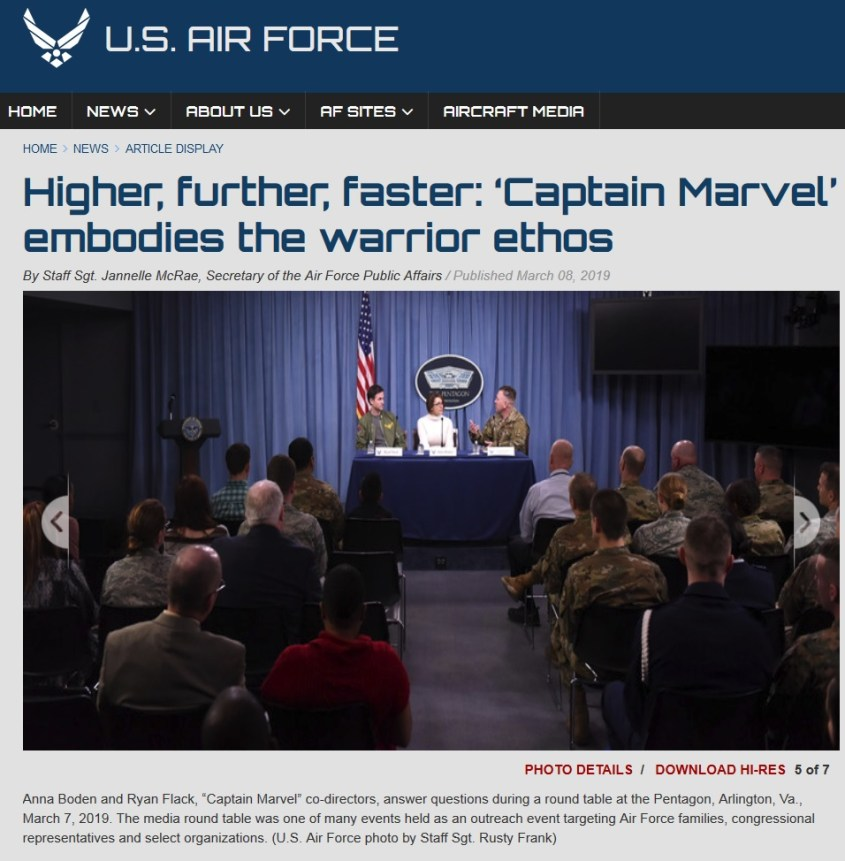 air force captain marvel round table