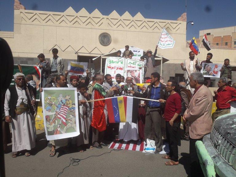 yemen houthi protest venezuela fidel