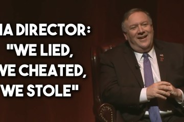 Pompeo CIA lied cheated stole