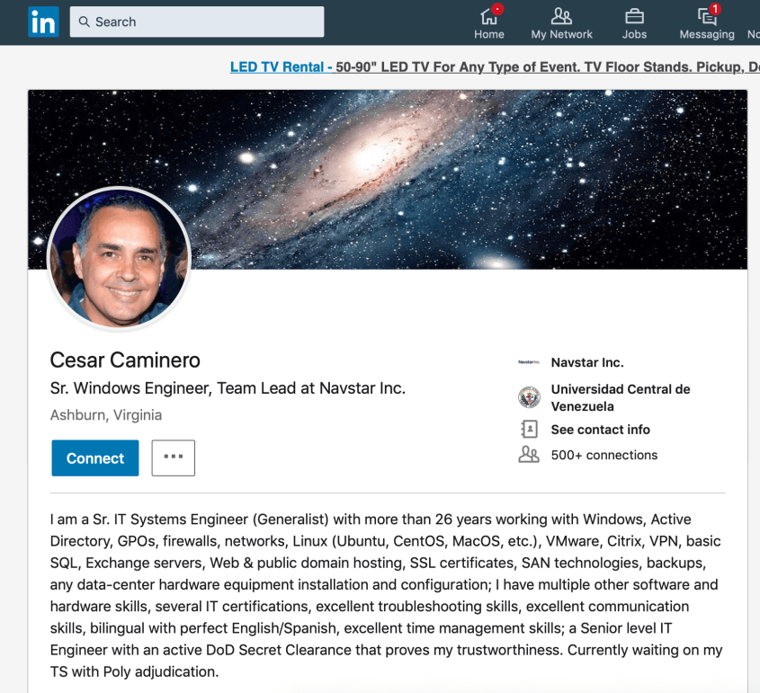 Cesar Caminero Linkedin