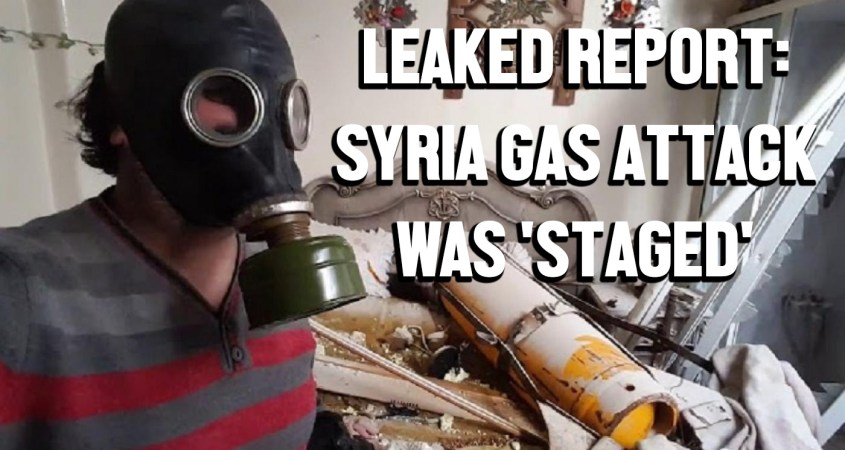 OPCW Syria gas attack staged