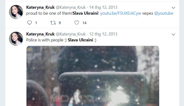 Kateryna Kruk Twitter Slava Ukraini
