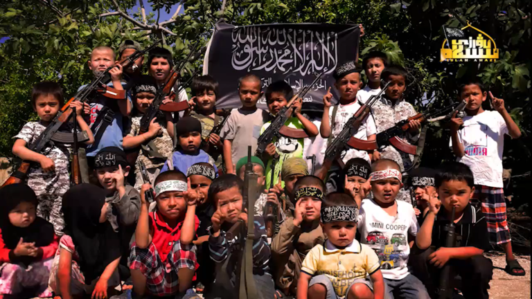 Children of the Turkistan Islamic Party, the apparent source for SNHR and the State Department's dubious claim of a chemical attack in Idlib