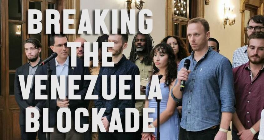 Max Blumenthal Miraflores breaking venezuela blockade