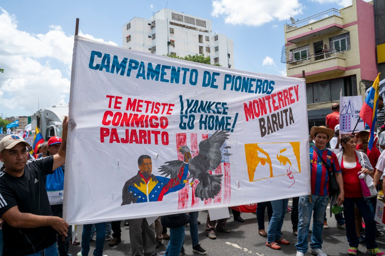 Venezuela no more Trump protest Yankee go home