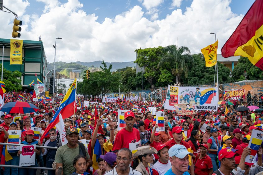 Venezuela no more Trump protest crowd