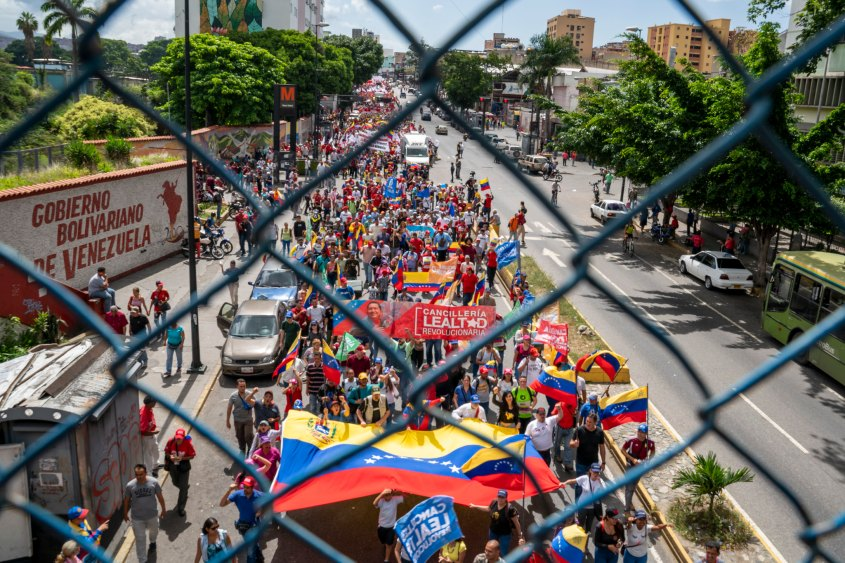 Venezuela no more Trump protest fence