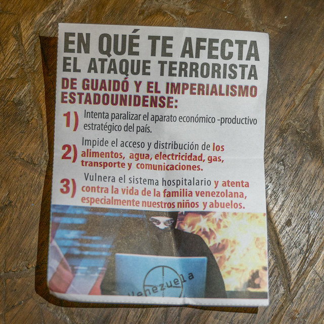 Venezuela no more Trump protest flyer