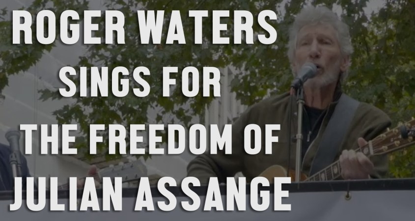 Roger Waters Julian Assange concert