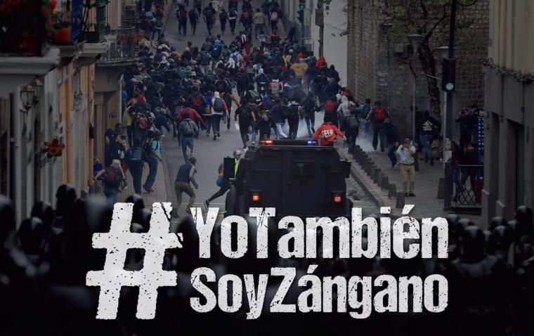 Ecuador zangano protest Lenin Moreno