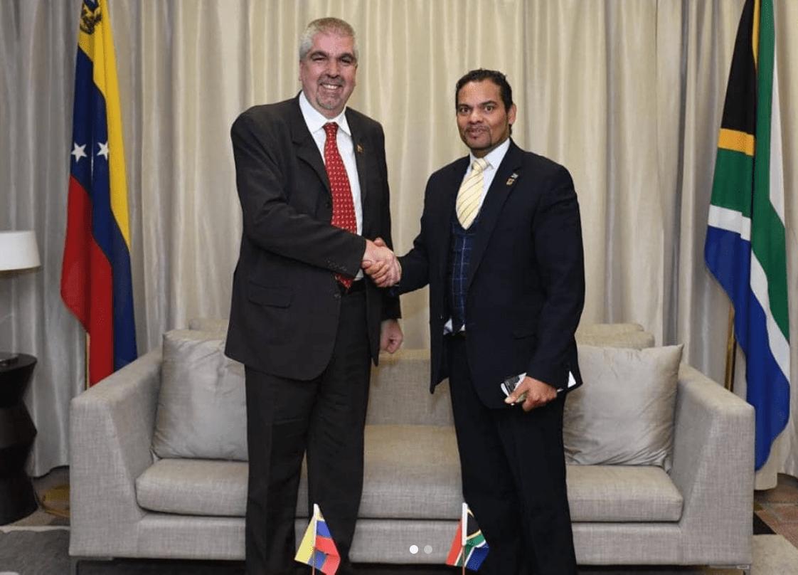 Venezuelan vice minister for Africa Yuri Pimentel