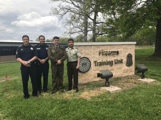 Photo of Calderón Mariscal (center-right) at the FBI training academy that is 36 miles outside of Washington, DC