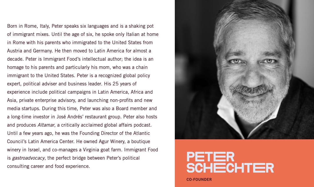 Peter Schechter Immigrant Food gastroadvocacy