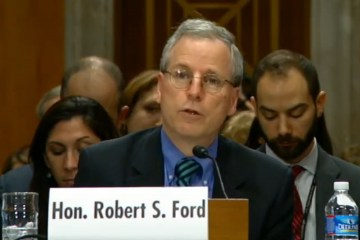 Robert Ford Syria regime change rebels