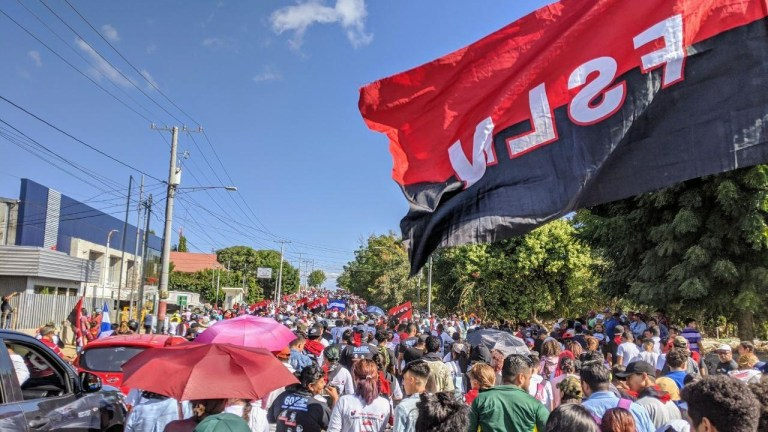 FSLN Sandinista march Nicaragua Managua