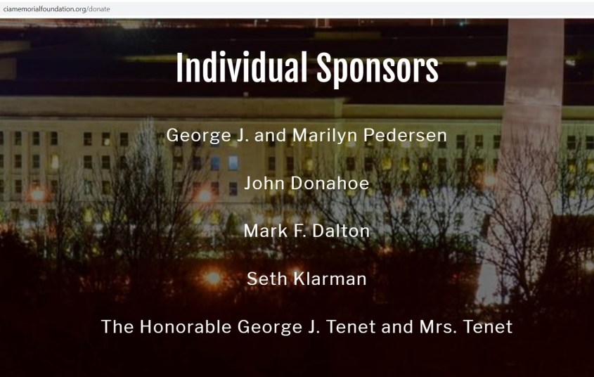 Seth Klarman CIA Memorial Foundation