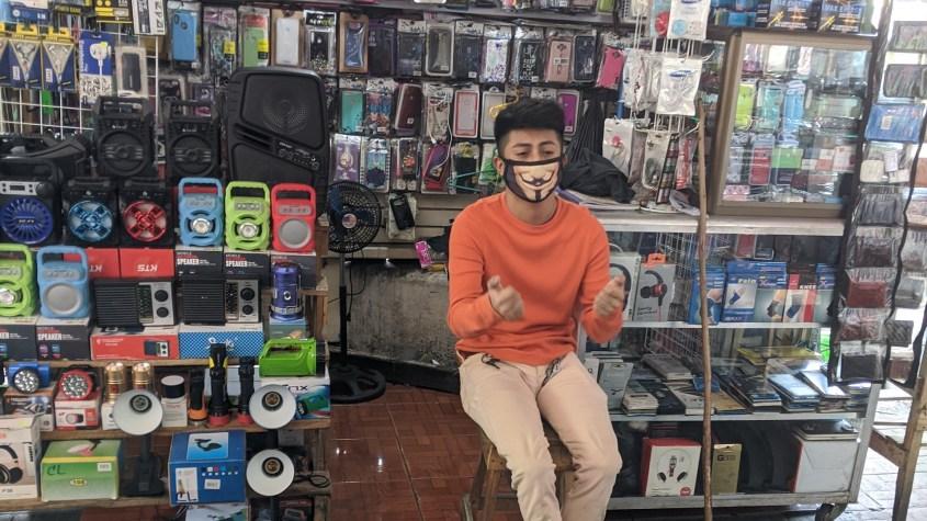 Nicaragua market mask coronavirus Managua