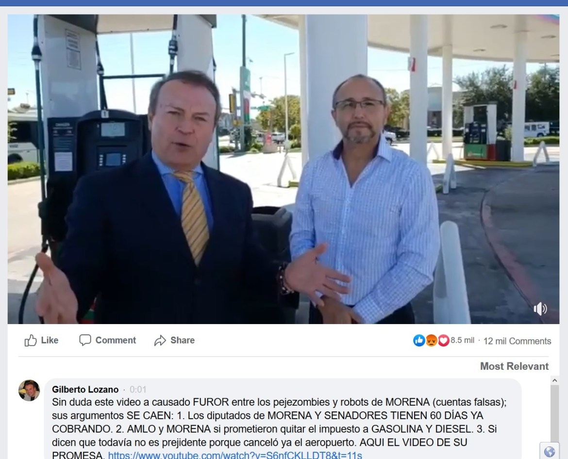 Gilberto Lozano gas station Texas AMLO Maduro