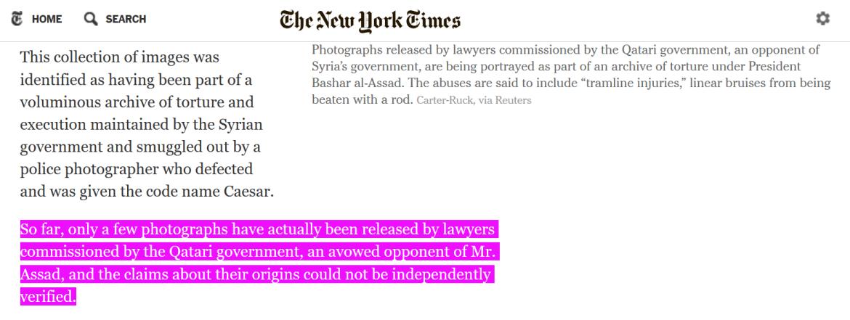 New York Times Caesar photos Qatar verified