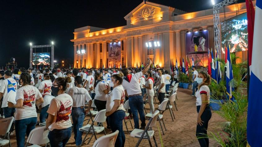 Nicaragua Sandinista Youth 41 anniversary masks