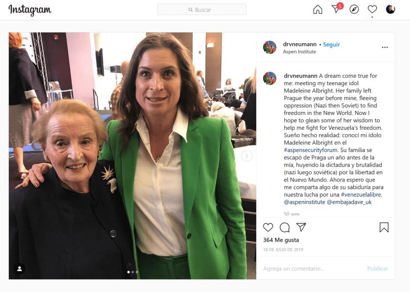 Vanessa Neumann Madeleine Albright Instagram