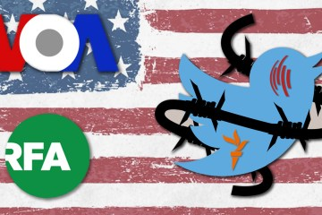 Twitter VOA Persian US state media ads propaganda