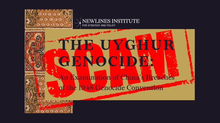 instituto newlines uigur genocidio china informe falso