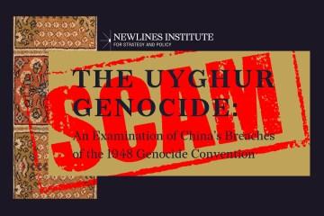 newlines institute uyghur genocide china report false