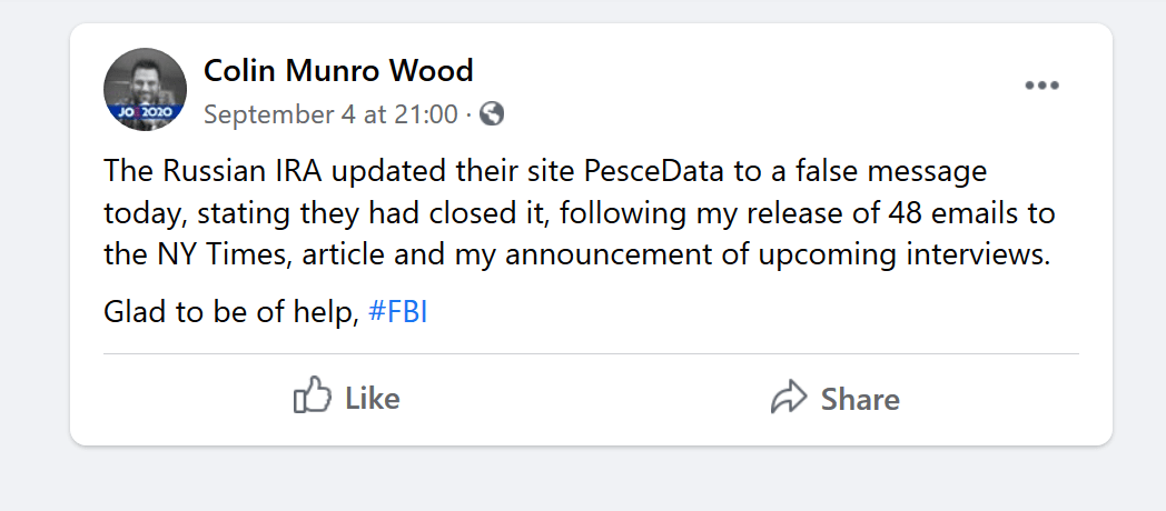 Colin Munro Wood FBI PeaceData Russia